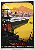 Poster Marseille Metropole – Paquebot/Roger Broders –