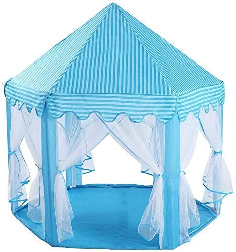 FEOPW Spiel-Zelt Princess Castle Rosa -Portable Kinder-Spiel-Zelt - Hexagon-Ineinander greifen Spielzimmer Moskitonetz-Baby-Spielzeug Haus - Innen und Außen Spielzelte Vorschule Spielzeug for draußen