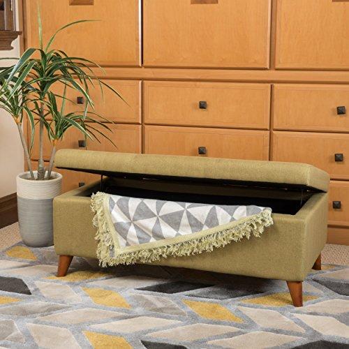 Christopher Knight Home Harper Fabric Storage Ottoman, Green