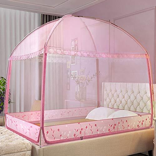 Depruies moskitonetz doppelbett Moskitonetz fenster, A7 Bed Canopy Curtain Doppelschicht Sheer Mesh Dome Bettvorhang Princess Zelt Für Doppelbetten Babybetten Kinderbetten Net Canopy moskitonetz doppe