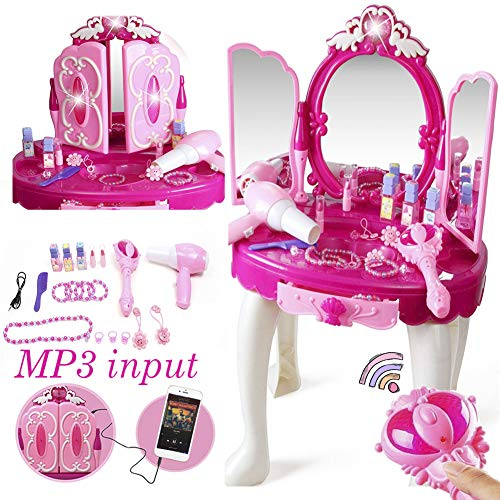 Khilona House Make Up Dressing Table Glamour & Beauty Set with Mirror,Stool,Hair...