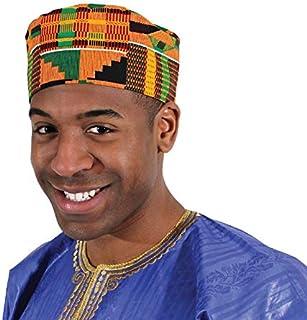 قبعة الكوفي الأفريقية Kente من Shophaven قبعة الكوفي، قبعة أنكارا، قبعة للرجال الأفريقية، جوقة، إكسسوار رجالي أسود لشهر ال...
