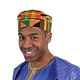 Shophaven African Kente Kufi Hat, Kofi Hat,...