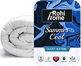 Rohi Summer Cool Double Duvet, 4.5 Tog Soft Like Down, Warmth Without Weight Summer Quilt
