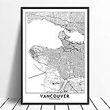 Leinwanddruck,Vancouver Schwarz Weiß Benutzerdefinierte