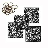 MAFAGE - Paneles divisores para colgar, elementos decorativos, ideales para cualquier estancia de casas y hoteles, 40x40cm