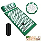 Acupressure Mat and Pillow Set, Acupuncture Mats with 2 Balls, Lotus Acupoint Spike