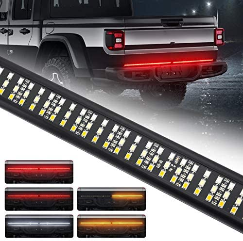 SUPAREE LED Triple Tailgate Light Bar Plug and Play Aluminum Frame with 4 Way Flat Connector product image