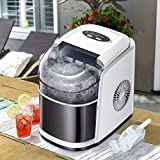 Tavata Countertop Portable Ice Maker Machine with Self-clean Function, 9 Ice Cubes ready in 6...
