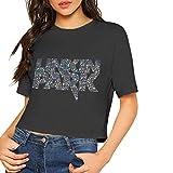 after Custom Cool Linkin-Park Logo Printing Crop Top Summer Short-Sleeve T-Shirt for Female Camisetas y Tops(Large)