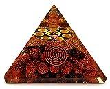 Rudraksha Orgonite Pyramids - 7 Chakra Om Ohm   Organite Crystal Pyramids for Positive Energy (Organite Pyramid EMF Protection)