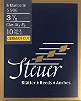 Steuer Reeds BB-クラリネットブルーラインS900、ジャーマンカット、10個、サイズ3 1/2