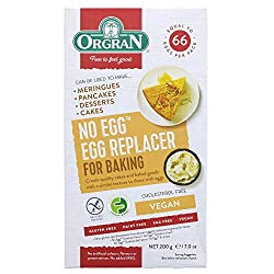 It can be used in cakes, meringues or to make egg free mayonnaise It is also great as a pantry fill as each packet has the equivalent of 33 eggs It contains no cholesterol, no lactose and no egg