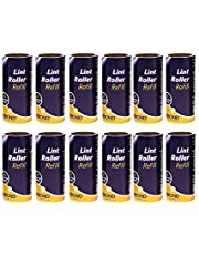 Korbond 12 Pack of Lint Roller Refills - 252 Pre-Cut Sticky Sheets - for ALL Fabric Types - Remove Dust and Lint from Furniture and Clothing - NO Residue