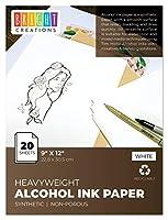 Bright Creations アルコールインク Yupo紙 (20枚) 9 x 12インチ