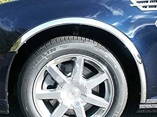 QAA fits 2005-2011 Cadillac STS (4 Piece Molded Stainless Steel Wheel Well Fender Trim Molding, 1.75