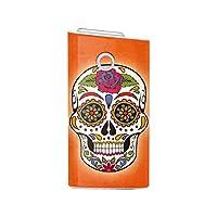 Biijo グロー シール glo スキンシール 全面対応 Sugar Skulls Mexico Mexican Calavera (F.オレンジ)