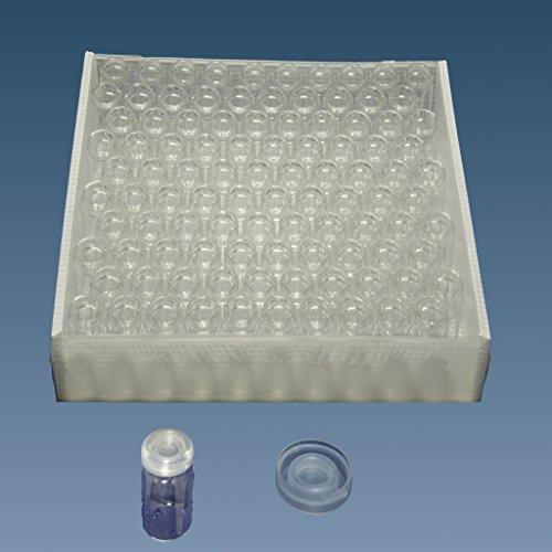 Ampullen, Rollrandgläser, Gewürzgläser, Schnappdeckelgläser incl. PE Deckel (10, 100 x 30 mm = 50 ml)