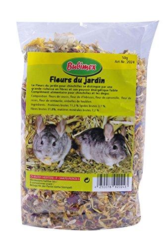 Bubimex Fleurs du Jardin Friandise pour Chinchilla - Lot de 4