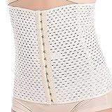 Everbellus - Corsé de rehabilitación para la cintura, transpirable, de látex, para mujer - Beige -