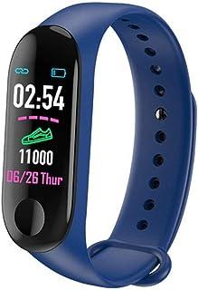 ZHANG Pulsera Actividad Impermeable con Pulsómetro y Tensiómetro, Reloj Medidor Tensión Arterial, Pulsera Deportiva con GPS, Pulsera Inteligente Compatible a Android y iPhone
