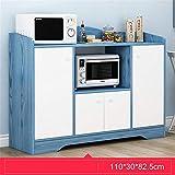 WangQM Aparador Aparador Buffet Gabinete de Consola de Servidor Puerta de Entrada Gabinete de Almacenamiento Bar Mueble aparador (Color : Azul, Size : 110x30x82.5cm)