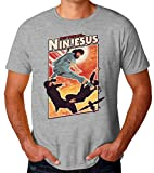 BakoIsland Ninjesus Ninja Jesus Funny Poster Camiseta para Hombres XX-Large