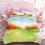 Hiiiman - Juego de ropa de cama (3 piezas, tamaño queen)