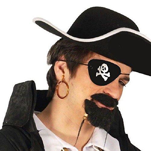 Mondial-fete - Cache oeil pirate Tête de Mort (PVC)