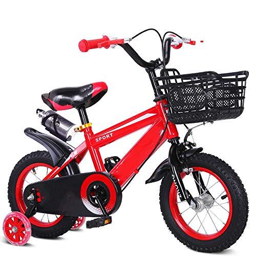 YumEIGE Fiets kinderfiets Cars 3 kleuren 12 14 16 18 20 inch met waterkoker en bekerhouder, jongens meisjes cadeau voor kinderen 2-15 jaar verkrijgbaar
