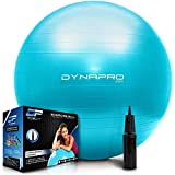 DYNAPRO Exercise Ball – Extra Thick Eco-Friendly & Anti-Burst Material Supports Over 2200lbs, Stability Ball for Home, Yoga, Gym Ball, Birthing Ball, Swiss Ball, Physical Therapy (Mint, 65CM)