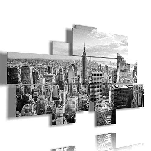 duudaart Quadro Moderno Soggiorno New York 29 multilivello 3D Stampe da Parete Citta cornici per Skyline