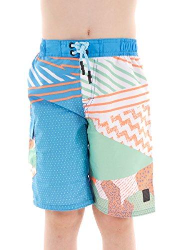 Brunotti Boardshort Badehose Schwimmhose hellblau Curouf Muster Tasche Gr. 152 161230904