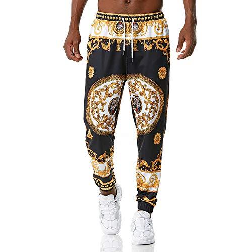 Pantalones Harem Informales para Hombre con Estampado Personalizado, Ligeros, Transpirables, Deportivos, Ejercicio físico, Cintura elástica para Correr Large