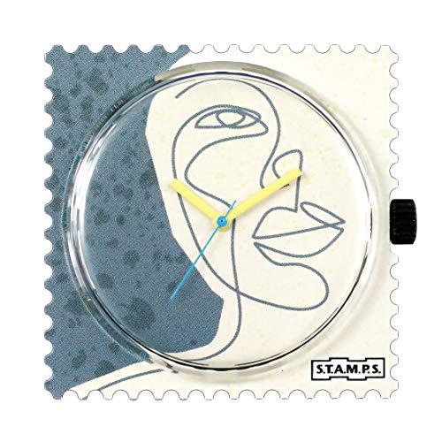 Stamps 105543 Montre analogique à quartz pour femme avec bracelet en plastique