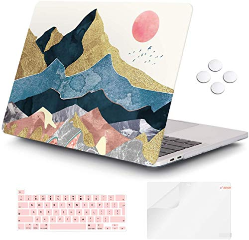 Macbook Pro 13 inch Case 2020 Release A2338 M1 A2251 A2289, iCasso Plastic Hard Shell Case Protective Cover & Keyboard Cover Only Compatible New Macbook Pro 13 inch with Touch Bar - Abstract Scenery