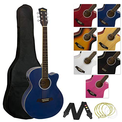 Tiger Music ACG4-BL Elektro-Akustische Gitarre-Set - Blau