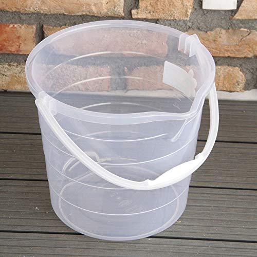 AGROHIT Eimer ohne Deckel und mit Tragebügel 15 Liter transparent