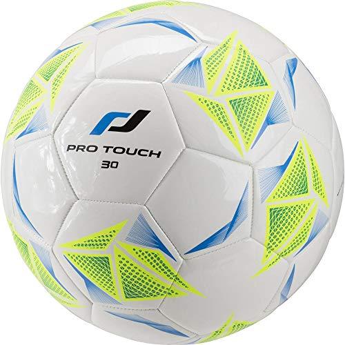 Pro Touch Fußball Force 30 Ball, Weiß/Grün/Gelb, 5