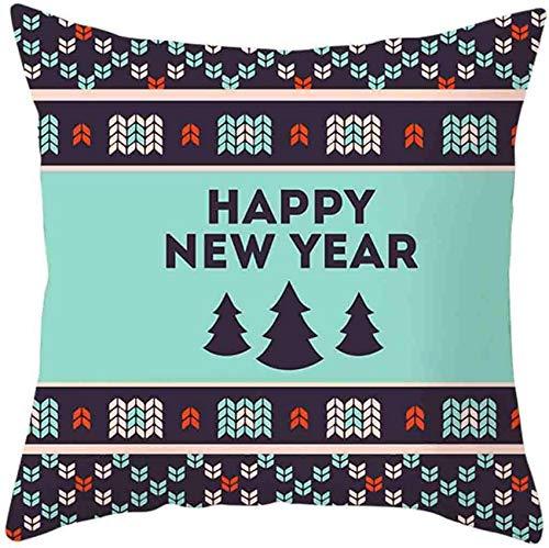 XXLYY Merry Christmas Linen Pillowcase Christmas Pillow Cases Cotton Linen Sofa Cushion Cover Home Decor Decoration Pillow Cases Decor Cushion Throw Pillow Cases for Chair Pillowcases 18' X 18'inch