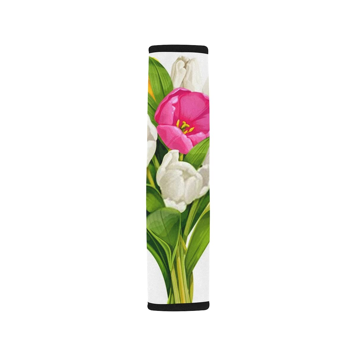 2pcs Car Seat Belt 4 years warranty Cover Bouquet Yellow Fort Worth Mall Pink White Tulips Should