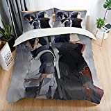 Naruto_Bed Set 3D Anime Duvet Cover Bedding Sets for Boys Kids Teens Girls, 1 Quilt Cover 2 Pillowcases, Twin Size, No Comforter