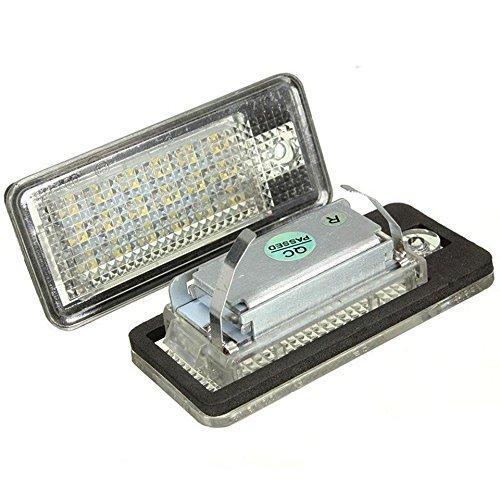 Katur 1 paire voiture Canbus erreur 18SMD LED Numéro de licence plaque Lampe Pour Au di A3 S3 A4 S4 B6 B7 A6 S6 A8 Q7