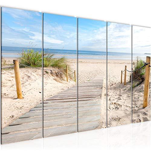 Bild Strand Meer Kunstdruck Vlies Leinwandbild Wanddekoration Wohnzimmer Schlafzimmer 607356b