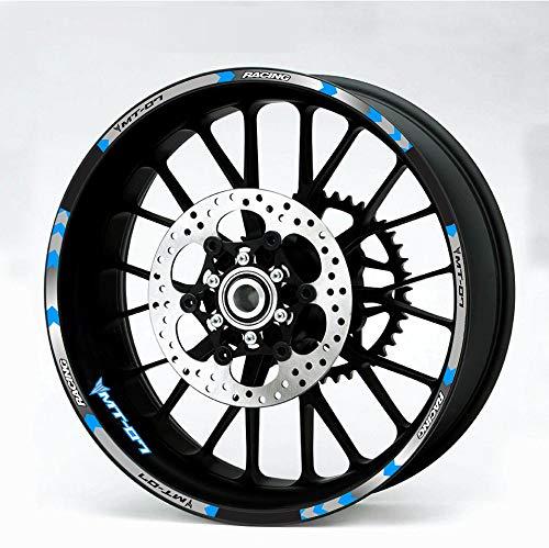 Etiqueta engomada reflectante de las motocicletas para motocicletas Pegatinas de ruedas para TRACER 700 900 850 MT07 MT09 MT-07 MT-09 (Color : 1)