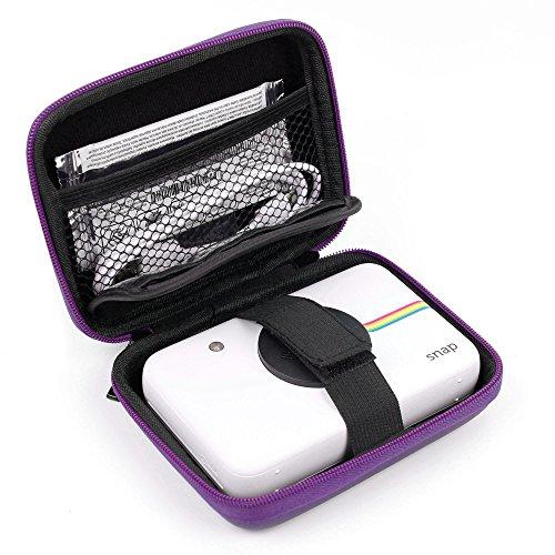 DURAGADGET Fantástica Funda Rígida Morada para Cámara Digital Polaroid Snap Touch- con Mini Mosquetón