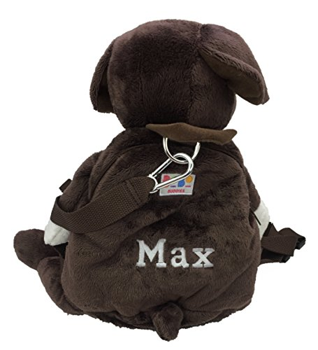 Sac à dos personnalisable BoBo Buddies en forme de chiot - Cadeau idéal pour la rentrée scolaire