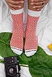 Rainbow Socks - Damen Herren - Sushi Socken Lachs - Lustige Geschenk - 1 Paar - Größen 36-40 - 6