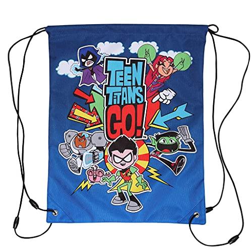 DC Teen Titans Go Characters Girls Gym Bag   Producto Oficial   Volver a la Escuela, Bolsa de PE para niños