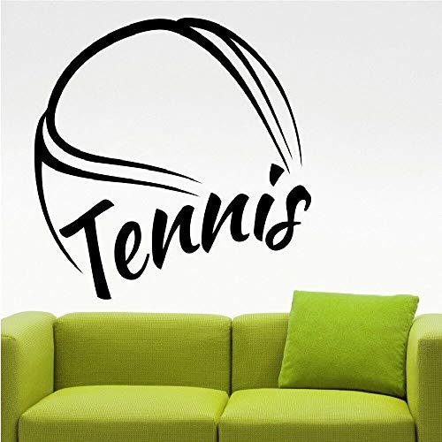 Pegatina Promotion Großer Tennisball mit Schriftzug Tennis 50cm Aufkleber,Autoaufkleber,Lack,Scheibe,Wand, UV& Waschanlagenfest Profi Qualität UV& Waschanlagenfest,Profi Qualität